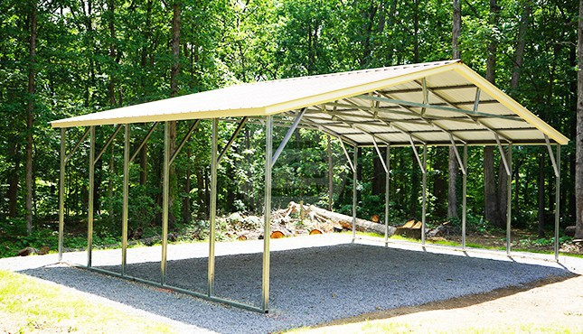 30x21 Vertical Roof Carport