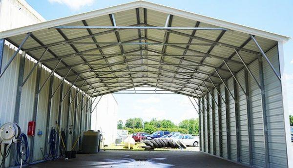 30x41 Vertical Roof Steel Carport