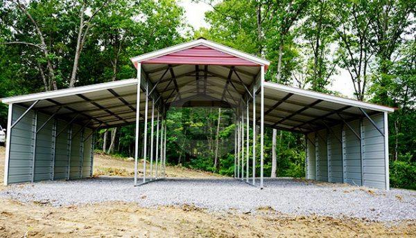 36x25 Drop-Down Steel Barn