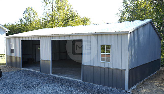 28x41 Side Entry Metal Garage