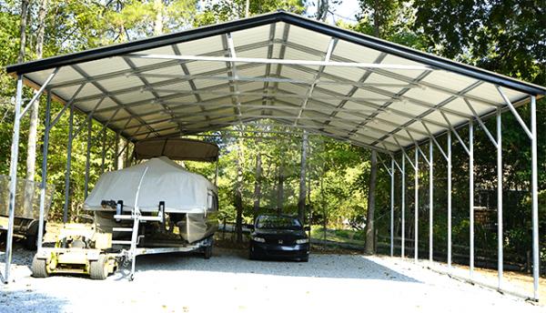 30x36 Vertical Roof Carport