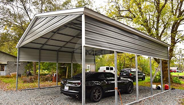Two Car Carport With Storage 2022