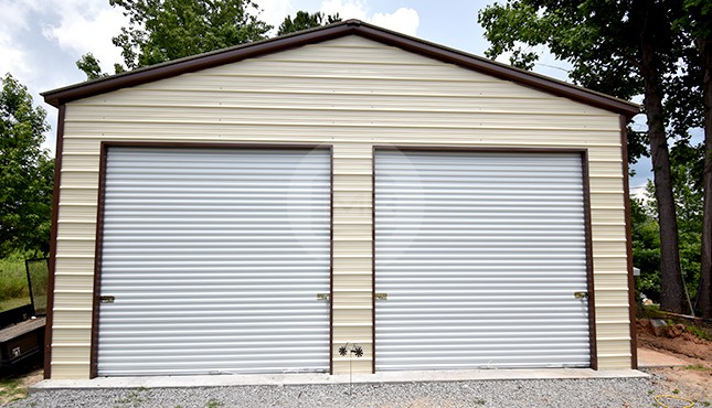 26x36 Two Car Metal Garage