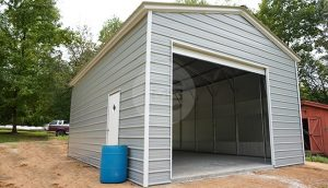 20x31 Vertical Roof Metal Garage