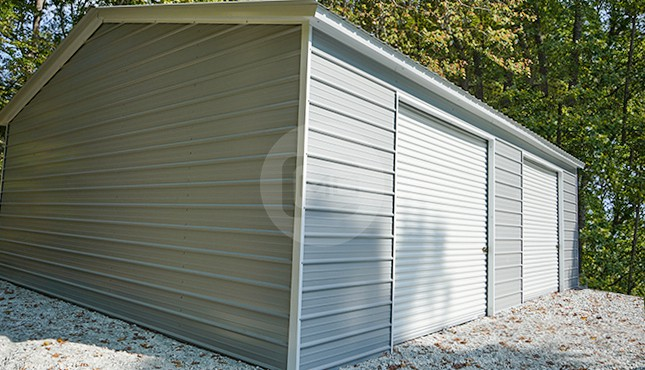 26x36 Two Car Steel Garage