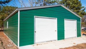 32x41 Double Car Metal Garage