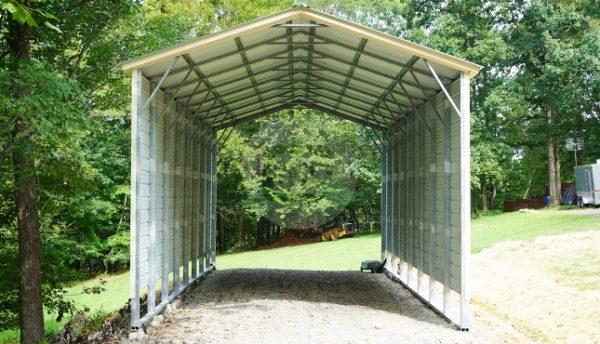 18×41 Vertical Roof RV Carport