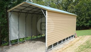 18×41 Vertical Roof RV Carport