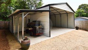 22x25 Vertical Roof Carport
