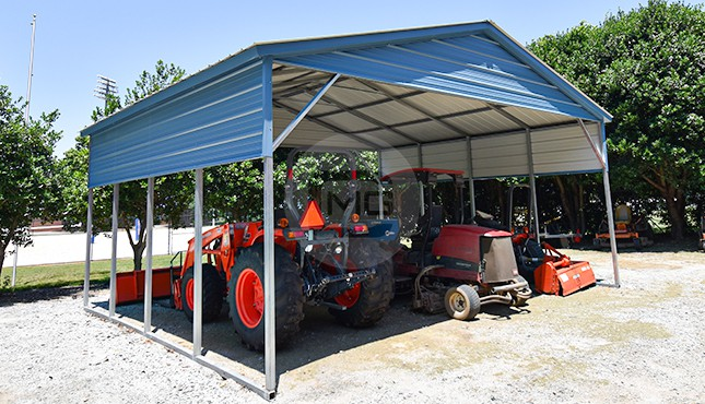 24×21 Vertical Roof Carport