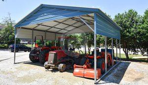 24×21 Vertical Roof Carport