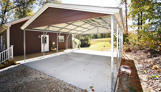 20x26 Vertical Roof Metal Carport