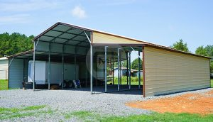 44x46 Vertical Roof Metal Barn