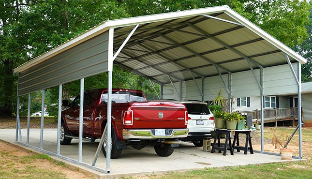 22x26 Two Car Metal Carport