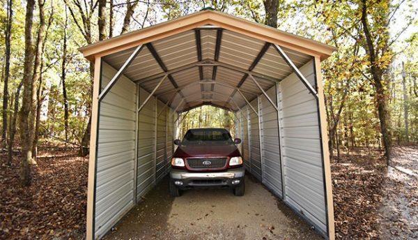 12x26 Metal Boat Carport